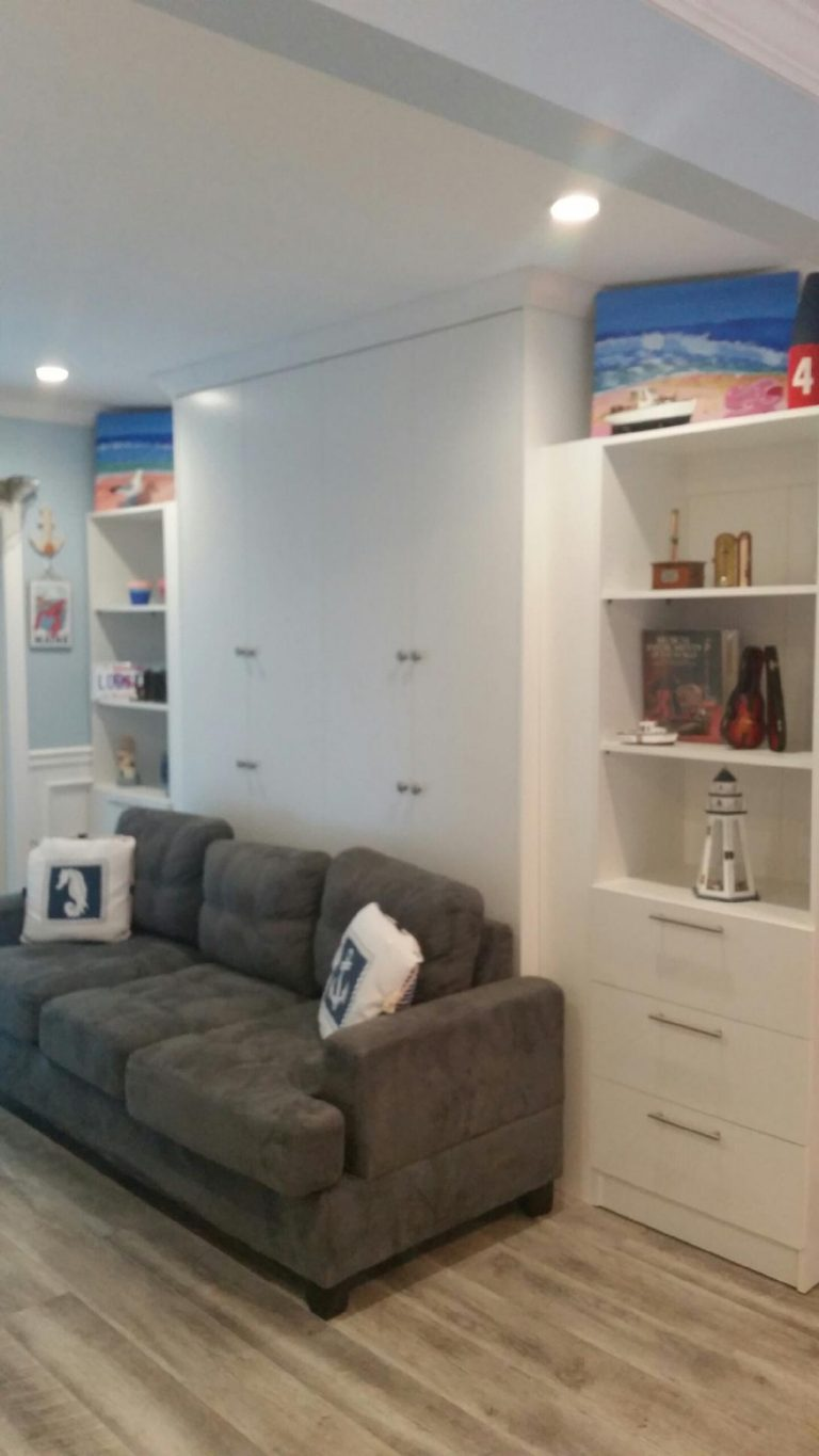murphy bed with sofa murphy bed nyc area rh murphybedbybrorene com Murphy Bed Center NYC Murphy Bed in Study Gorgeous