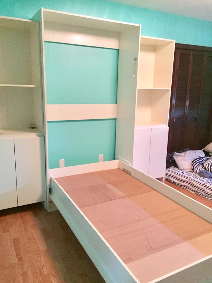 Opened Murphy Bed And Table Or Desk